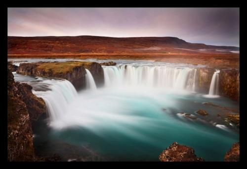 energetic waterfall