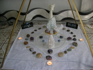 Crystal Grid for Purification, Protection with Angels in the Angelic World