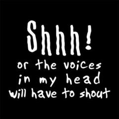 Shhh! or the voices in my head will have to shout!