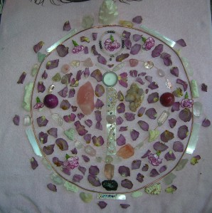 Heart Chakra Crystal Grid August 2014 New Moon